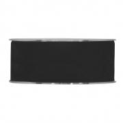 X133UN Ruban de velours noir 40mm x 7m