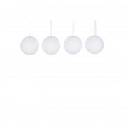 X134DQ Boîte de 4 boules polyester neige D8cm