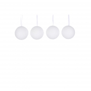 X134DQ Box of 4 snow effect polyester balls D8cm