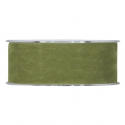 X134UN Olive-green velvet ribbon 40mm x 7m