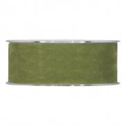 X134UN Ruban de velours vert olive 40mm x 7m