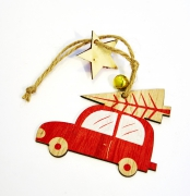 X135GM Set of 3 wooden cars H12cm