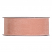 X135UN Salmon pink velvet ribbon 40mm x 7m