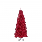 X136DQ Red artificial tree D84cm H185cm