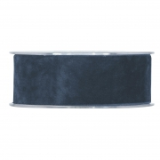 X136UN Ruban de velours bleu 40mm x 7m
