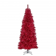 X137DQ Red artificial tree D100cm H230cm
