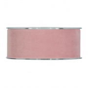 X137UN Pink velvet ribbon 40mm x 7m