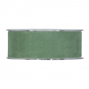 X138UN Green velvet ribbon 40mm x 7m