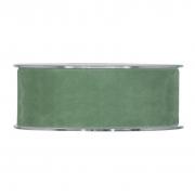 X138UN Ruban de velours vert 40mm x 7m