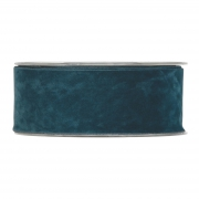 X139UN Peacock blue velvet ribbon 40mm x 7m