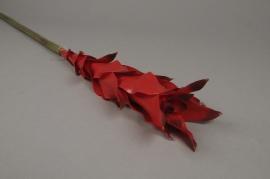x140el Guzmania artificielle rouge H84cm