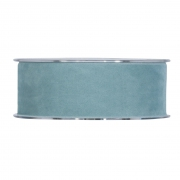 X140UN Sky blue velvet ribbon 40mm x 7m