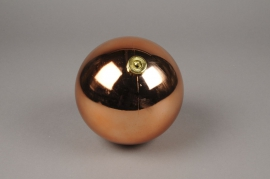 X140ZY Boule de plastique cuivre or rosé D15cm