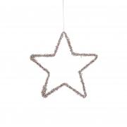 X141DQ Etoile ajourée décoration or D20cm