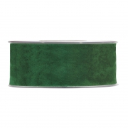 X141UN Forest green velvet ribbon 40mm x 7m