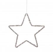 X142DQ Etoile ajourée décoration or D25cm