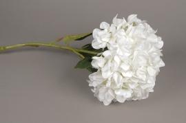 x142fd Hortensia artificiel blanc H115cm