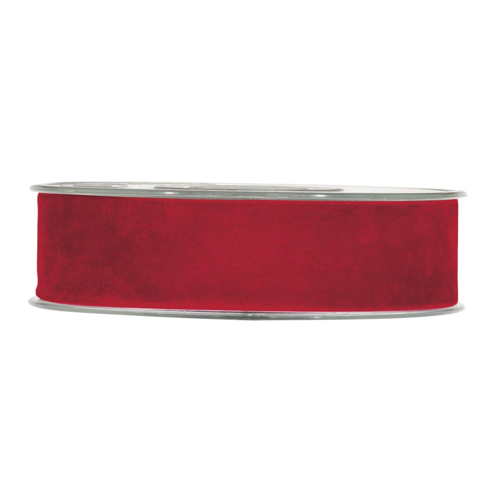 X142UN Red velvet ribbon 25mm x 7m