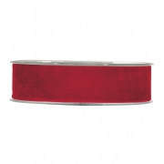 X142UN Ruban de velours rouge 25mm x 7m