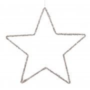 X143DQ Etoile ajourée décoration or D40cm
