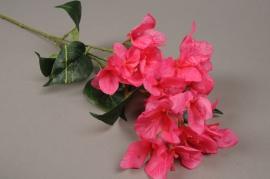 x143ee Branche de bougainvillier artificiel rose H73cm