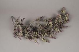 x143el Chute d'eucalyptus vert artificiel H70cm