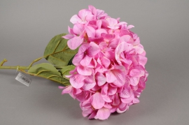 x143fd Hortensia artificiel rose H115cm