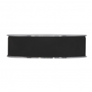 X143UN Black velvet ribbon 25mm x 7m
