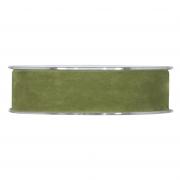 X144UN Olive-green velvet ribbon 25mm x 7m