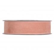 X145UN Salmon pink velvet ribbon 25mm x 7m