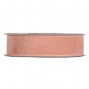 X145UN Salmon pink velvet ribbon 25mm x 7m