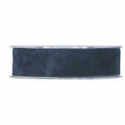 X146UN Blue velvet ribbon 25mm x 7m
