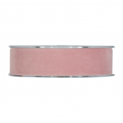 X147UN Nude velvet ribbon 25mm x 7m