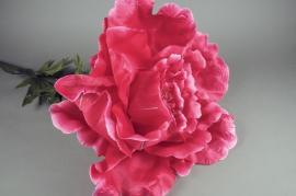 x148el Pivoine artificielle géante rose H135cm