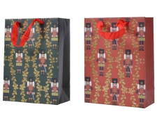 X148KI Sac cadeau motif noir rouge assorti 18x50cm H72cm