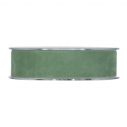 X148UN Green velvet ribbon 25mm x 7m