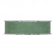 X148UN Ruban de velours vert 25mm x 7m