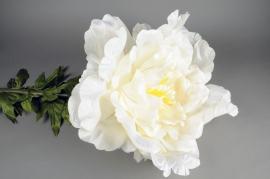 x149el Pivoine artificielle géante blanc H135cm