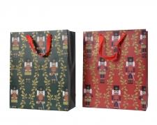 X149KI Sac cadeau motif casse-noisette assorti 16x42cm H48cm
