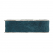 X149UN Peacock blue velvet ribbon 25mm x 7m