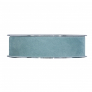 X150UN Sky blue velvet ribbon 25mm x 7m
