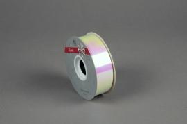 X150ZR Ruban métal blanc irisé 30mm x 50m