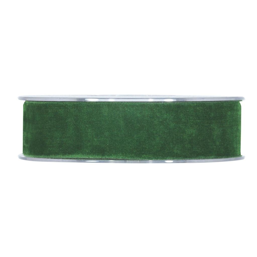 X151UN Forest green velvet ribbon 25mm x 7m