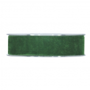 X151UN Forest green velvet ribbon 25mm x 7m