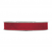 X152UN Ruban de velours rouge 15mm x 7m
