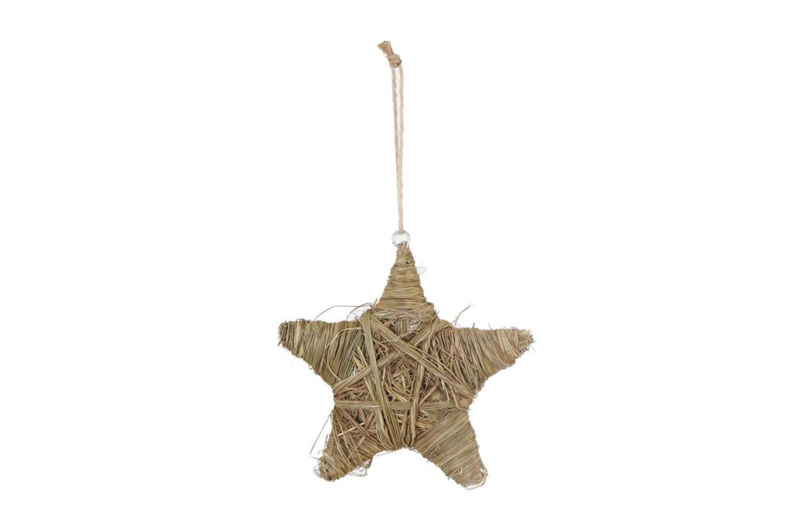 X153U7 Étoile en herbe séchée naturelle D20cm