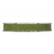 X154UN Green-olive velvet ribbon 15mm x 7m