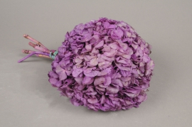 x155ab Pink preserved Hortensia H33cm