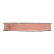 X155UN Salmon pink velvet ribbon 15mm x 7m