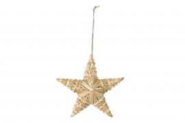 X160U7 Étoile en osier naturel D20cm